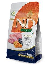 N&D Pumpkin Cat Neutered Adult lamb & blueberry 5 kg jagnięcina i borówki dla kastratów