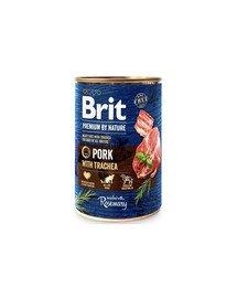 Premium by Nature Chicken&Hearts 400 g karma mokra dla psa z wieprzowiną i przełykami