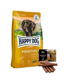 HAPPY DOG Supreme piemonte 10 kg + naturalne cygara z kaczką 7 szt.