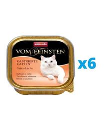 ANIMONDA Vom Feinsten zestaw z indykiem i łososiem 6 x 100 g