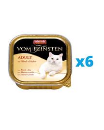 ANIMONDA Vom Feinsten Adult zestaw z wołowiną i kurczakiem 6 x 100 g
