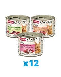 ANIMONDA Carny mix 3 smaków 36 x 200 g