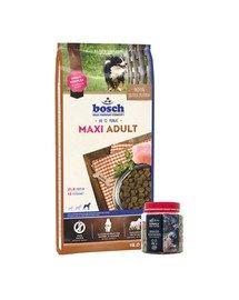 BOSCH Maxi adult 15 kg + Wypiekane ciasteczka z dodatkiem kurkumy 250 g