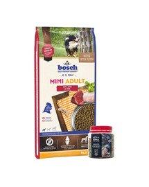 BOSCH Mini Adult jagnięcina i ryż 15 kg + Wypiekane ciasteczka z dodatkiem kurkumy 250 g