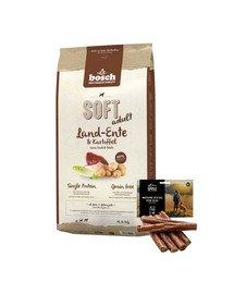BOSCH Soft Kaczka & Ziemniak 12,5 kg + naturalne cygara z kaczką 7 szt.
