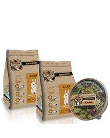 NATURAL-VIT Korona Natury Mieszanka pełnoporcjowa dla królików 2 x 750 g + mieszanka uzupełniająca 70 g GRATIS