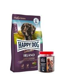 HAPPY DOG Supreme irland 12.5 kg + przysmaki treningowe z zającem 300 g