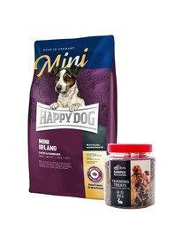 HAPPY DOG Mini Irland 8 kg + przysmaki treningowe z zającem 300 g