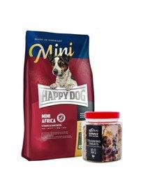 HAPPY DOG Mini Africa 4 kg + przysmaki treningowe ze strusiem 300 g