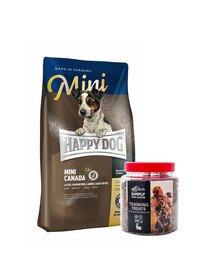 HAPPY DOG Mini Canada 4 kg + przysmaki treningowe z zającem 300 g
