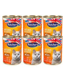 BUTCHER'S Natural&Healthy Cat z dziczyzną kawałki w galarecie 6x400 g