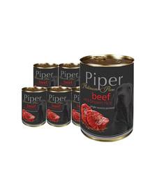 DOLINA NOTECI PIPER Platinum Wołowina z ryżem mokra karma dla psów z alergią 12x400 g