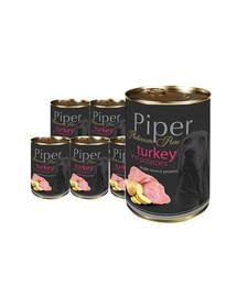 DOLINA NOTECI PIPER Platinum Pure Indyk z ziemniakami mokra karma dla psów z alergią 12x400 g