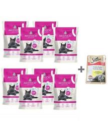 ARISTOCAT Żwirek silikonowy PREMIUM dla kotów bezzapachowy 8x3.8l + SHEBA Mini Kurczak 50 g GRATIS