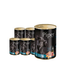 DOLINA NOTECI PIPER z jagnięciną, marchewką i brązowym ryżem mokra karma dla dorosłych psów 24x400 g