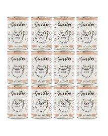 GUSSTO Cat Fresh Calf & Rabbit mokra karma dla kotów cielęcina i królik 12x400 g