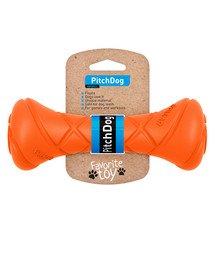 PitchDog Game barbell orange zabawka dla psa 7x19 cm