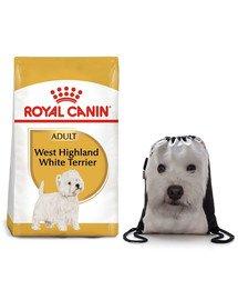 ROYAL CANIN West Highland White Terrier Adult 3 kg + plecak worek