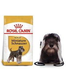ROYAL CANIN Miniature Schnauzer Adult 7.5 kg + plecak worek