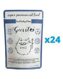 GUSSTO Cat Fresh Turkey&Tuna mokra karma dla kotów indyk i tuńczyk 24x85 g