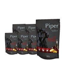 DOLINA NOTECI PIPER z wątrobą wołową i ziemniakami mokra karma dla dorosłych psów 10x500 g