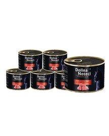 DOLINA NOTECI Premium Bogata w cielęcinę karma dla kotów dorosłych 12x185 g