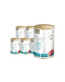 DOLINA NOTECI PIPER Animals Sterilised z tuńczykiem mokra karma dla kotów sterylizowanych 12x400 g