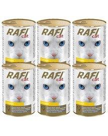 DOLINA NOTECI RAFI Adult Drób Mokra Karma dla kota 6x415 g