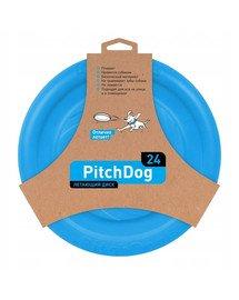 Pitch Dog Game flying disk 24` blue frisbee dla psa niebieski 24 cm