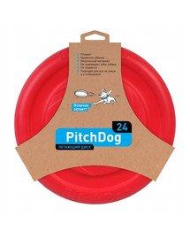 Pitch Dog Game flying disk 24` pink frisbee dla psa różowy 24 cm