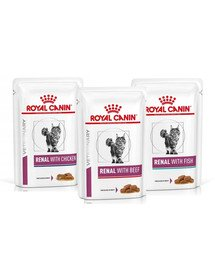 ROYAL CANIN Renal Feline Mix smaków 72 x 85 g