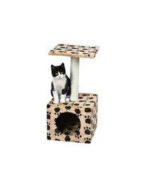 """Drapak dla kota """"Zamora"""" 61 cm beżowy w łapki"""
