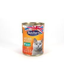 BUTCHER'S Natural&Healthy Cat z rybą morską kawałki w galarecie 6 x 400 g (5+1 GRATIS)