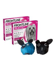 FRONTLINE Tri-Act Krople przeciw pasożytom dla psów miniaturowych XS (2-5 kg) 6 pipetek + torebka na zakupy GRATIS