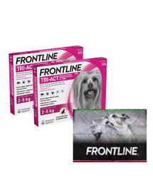 FRONTLINE Tri-Act Krople przeciw pasożytom dla psów miniaturowych XS (2-5 kg) 6 pipetek + ręcznik do łapek GRATIS