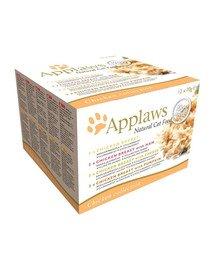 APPLAWS Cat Tin Multipack 48x70g Chicken Collection mokra karma dla kota mix smaków z kurczakiem
