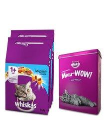 WHISKAS Adult 2x1,4kg - sucha karma dla kotów z tuńczykiem + PUSZKA GRATIS