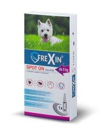 Krople przeciw ektopasożytom dla psa do 5 kg 1 ml