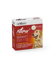 InPar Tabletki na odrobaczanie psa pasożyty wewnętrzne 6 tab.