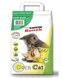 BENEK Super Corn Cat świeża trawa 7 l x 2 (14 l)