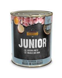 Super Premium Junior Drób, jajka 800 g mokra karma dla szczeniąt