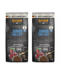 BELCANDO Junior Lamb & Rice M-L 25 kg (2x12.5 kg) jagnięcina i ryż - sucha karma dla psów od 4 miesiąca życia, rasy średnie i duże