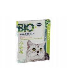 BIO Obroża pielęgnacyjno-ochronna z olejkiem geraniowym i cedrowym dla kotów 35 cm