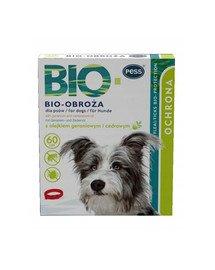 BIO Obroża pielęgnacyjno-ochronna z olejkiem geraniowym i cedrowym dla psów 60 cm
