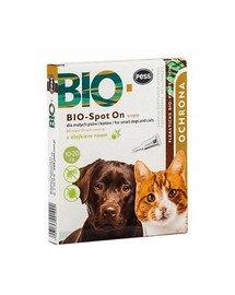 BIO Spot-on krople na kleszcze i pchły dla średnich i dużych psów 4x2.5 g z olejkiem neem