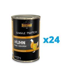 BELCANDO Single Protein Kurczak 24x400 g mokra karma dla psa