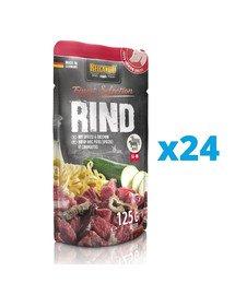 BELCANDO Finest Selection Wołowina z kluskami i cukinią 24x125 g mokra karma dla psa