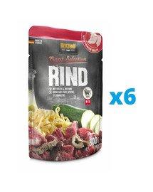 BELCANDO Finest Selection Wołowina z kluskami i cukinią 6x300 g mokra karma dla psa