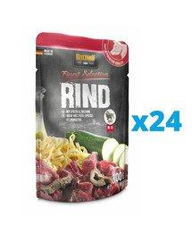 BELCANDO Finest Selection Wołowina z kluskami i cukinią 24x300 g mokra karma dla psa