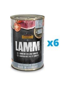 BELCANDO Super Premium Jagnięcina, ryż i pomidor 6x400 g mokra karma dla psa